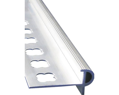 Lišta ALU schod.s nosem 10x2500 mm přírodní