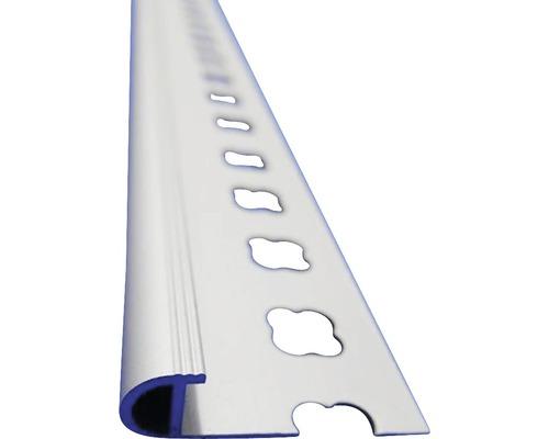 Lišta ALU schodová s nosem 10x2500 mm elox šedá