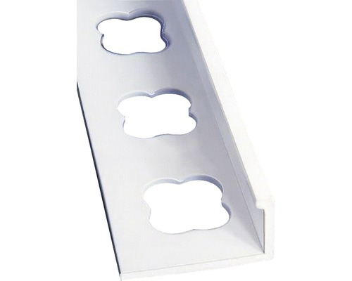 Lišta PVC L profil 10x2500 mm bílá