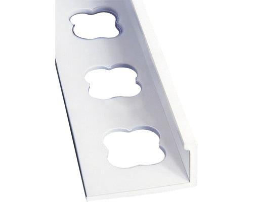Lišta PVC L profil 8x2500 mm bílá