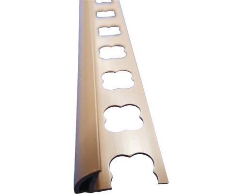 Lišta PVC vnější roh 10x2500 mm caramel