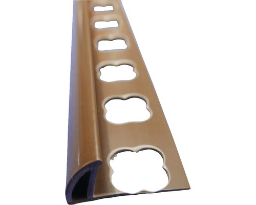 Lišta PVC vnější roh 8x2500 mm středně hnědá