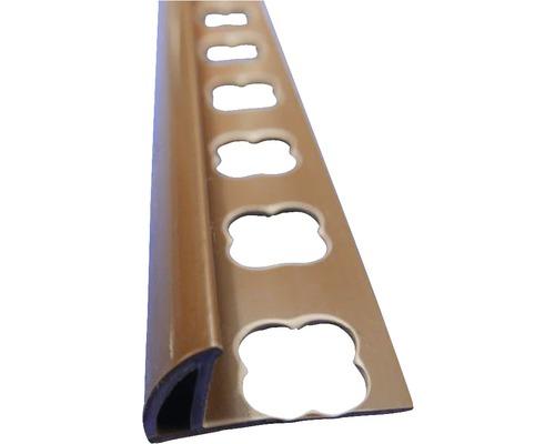 Lišta PVC vnější roh 10x2500 mm středně hnědá