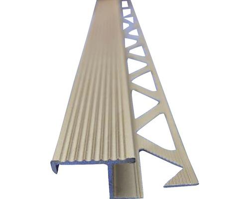 Lišta ALU schodová 10x2500 mm elox oliva