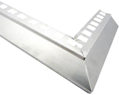 Lišta ALU balkonový profil 50x50 mm šedá