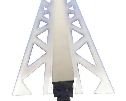 Lišta ALU dilatační 10x2500 mm šedá