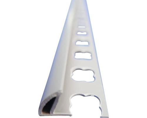 Lišta PVC vnější roh 10x2500 mm tmavě šedá