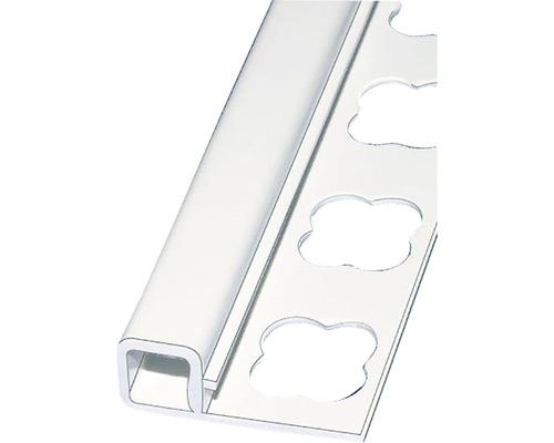 Lišta ALU Q ukončovací profil 10x2500 mm ELOX stříbrný