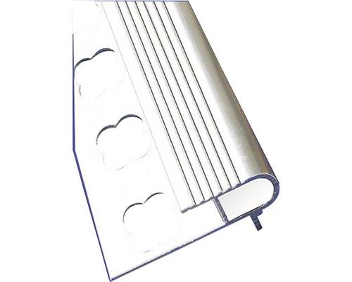 Lišta ALU schodová lišta s nosem U 10x2500 mm přírodní