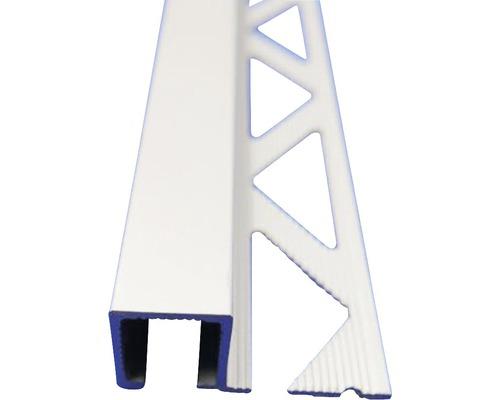 Lišta ALU Q ukončovací profil 8x2500 mm elox stříbrný