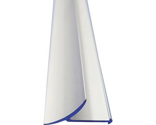 Lišta PVC vnitřní roh 8x2500 mm elox stříbrná