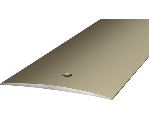 ALU přechodový profil ocel.matný 2,7m 60mm šroubovací (předvrtaný)