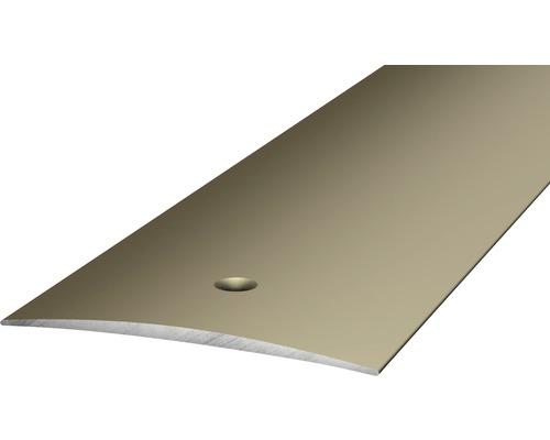ALU přechodový profil ocel.matný 1m 50mm šroubovací (předvrtaný)