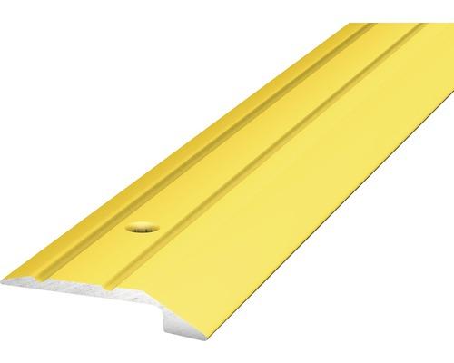 ALU ukončovací profil zlatý 2,7m 4-5mm x 30mm šroubovací (předvrtaný)