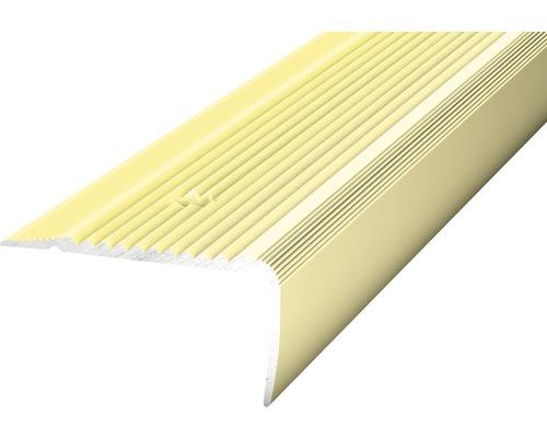 ALU schodový profil NOVA sahara 2,7m 45x23mm šroubovací (předvrtaný)