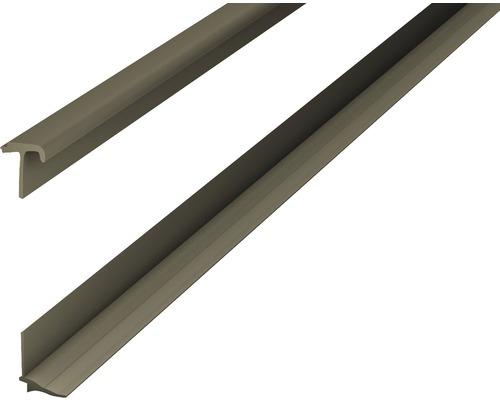Soklová lišta pro design obklady bronz 2,5m 2-3,5mm nalepovací