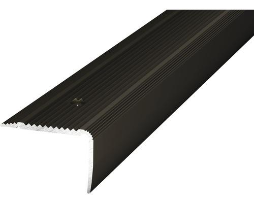 ALU schodový profil NOVA bronz 1m 30x20mm šroubovací (předvrtaný)