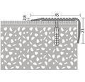 ALU schodový profil NOVA ocel.matný 2,7m 45x23mm šroubovací (předvrtaný)