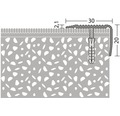 ALU schodový profil NOVA ocel.matný 2,5m 30x20mm šroubovací (předvrtaný)
