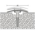D.O.S. Kobercový profil stříbrný 2,7m 40mm