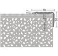 ALU schodový profil NOVA bronz 2,5m 30x20mm šroubovací (předvrtaný)