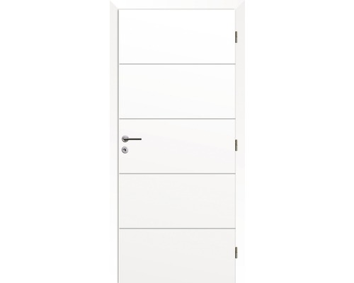 Interiérové dveře Solodoor Snow 4 plné 80 P bílá