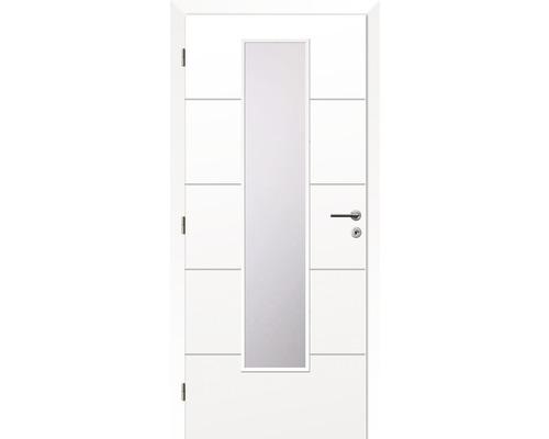 Interiérové dveře Solodoor Snow 8 prosklené 70 L bílá (VÝROBA NA OBJEDNÁVKU)