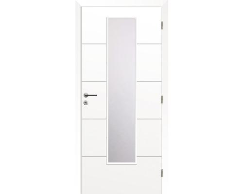 Interiérové dveře Solodoor Snow 8 prosklené 70 P bílá (VÝROBA NA OBJEDNÁVKU)