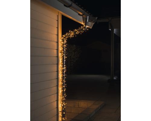 Světelný řetěz Konstsmide Micro 200 LED, venkovní a vnitřní, jantarové světlo