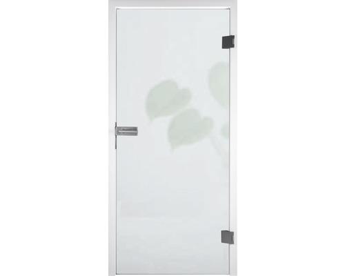 Skleněné dveře Pertura Runa satinované 834 x 1972 x 8 mm DIN levé/pravé pro 3dílný dveřní závěs