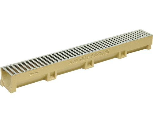 Odvodňovací žlab ACO EuroSelf 38707, 50 cm, s litinovým roštem