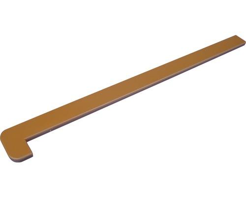 Boční krytka k parapetu Polyform 700 x 190 mm, tmavě béžová
