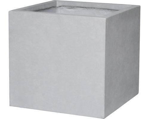 Květináč umělý kámen Lafiora Emil 55x55x52 cm světle šedý