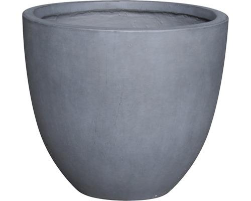 Květináč umělý kámen Lafiora Emil Ø 50 cm x 44 cm tmavě šedý