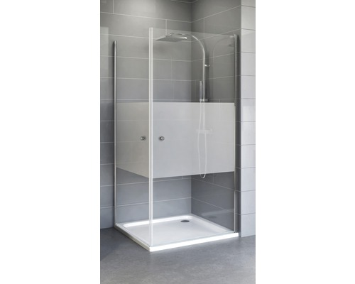 Sprchový kout Schulte Flexa 90x80 cm dekor Dezent barva profilu chrom