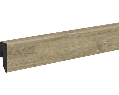 Podlahová lišta Neuhofer KU048L plastová 2400 x 38,5 x 15 mm dub ovápněný
